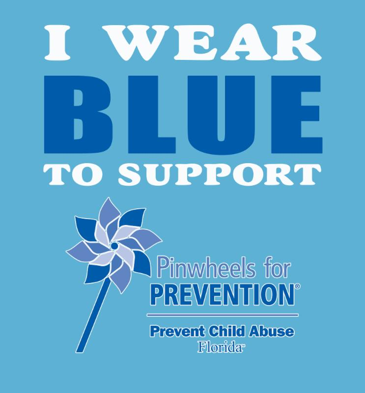I wear blue logo