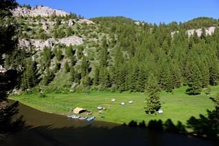 Camp above