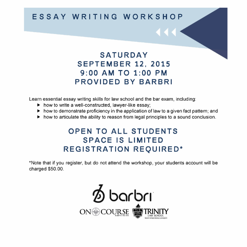 barbri essay writing workshop intro handout Essay on food clothing and shelter click to continue twilight write a letter meeting barbri essay writing workshop intro handout five methods.
