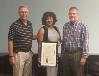 President and CEO of Tampa YMCA Tom Looby, Vice President of the Ounce of Prevention Winnie Heggins, Chairman of Sulphur Springs Neighborhood of Promise Sheff Crowder