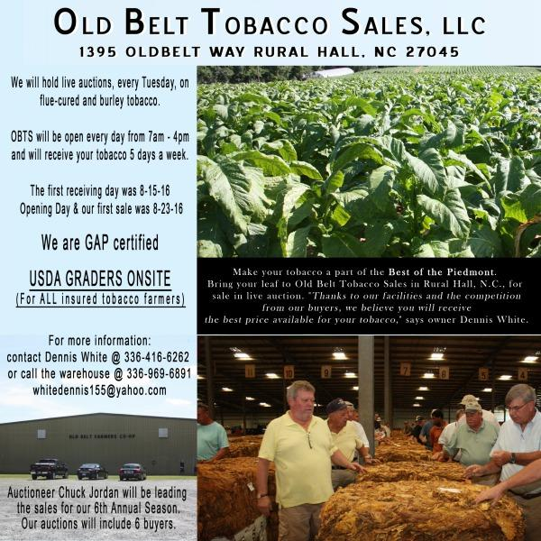 Tobacco farmer newsletter over half of 2016 tobacco has moved southern maryland is unchanged from last month also at 38 million pounds sciox Image collections