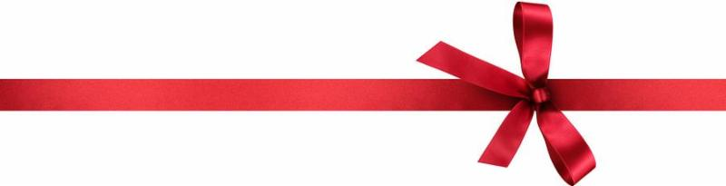 Red Satin Gift Ribbon with Decorative Bow - Vertical Banner Illustration Isolated on White Background
