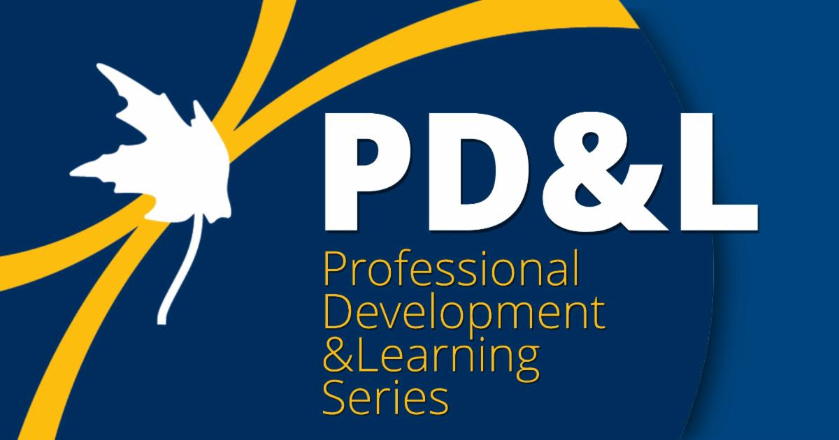 Professional Development and Learning Series Logo