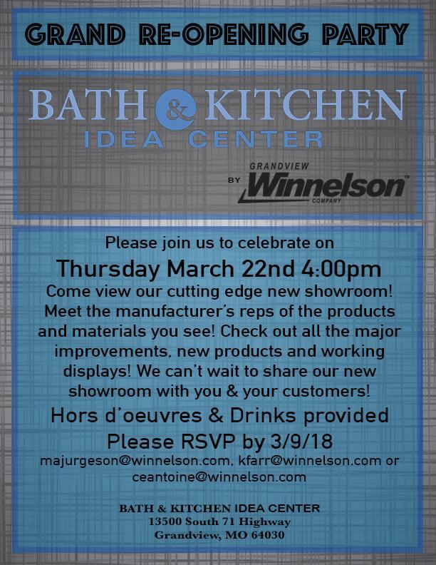 Bath Kitchen Idea Center By Grandview Winnelson Grand Re Opening