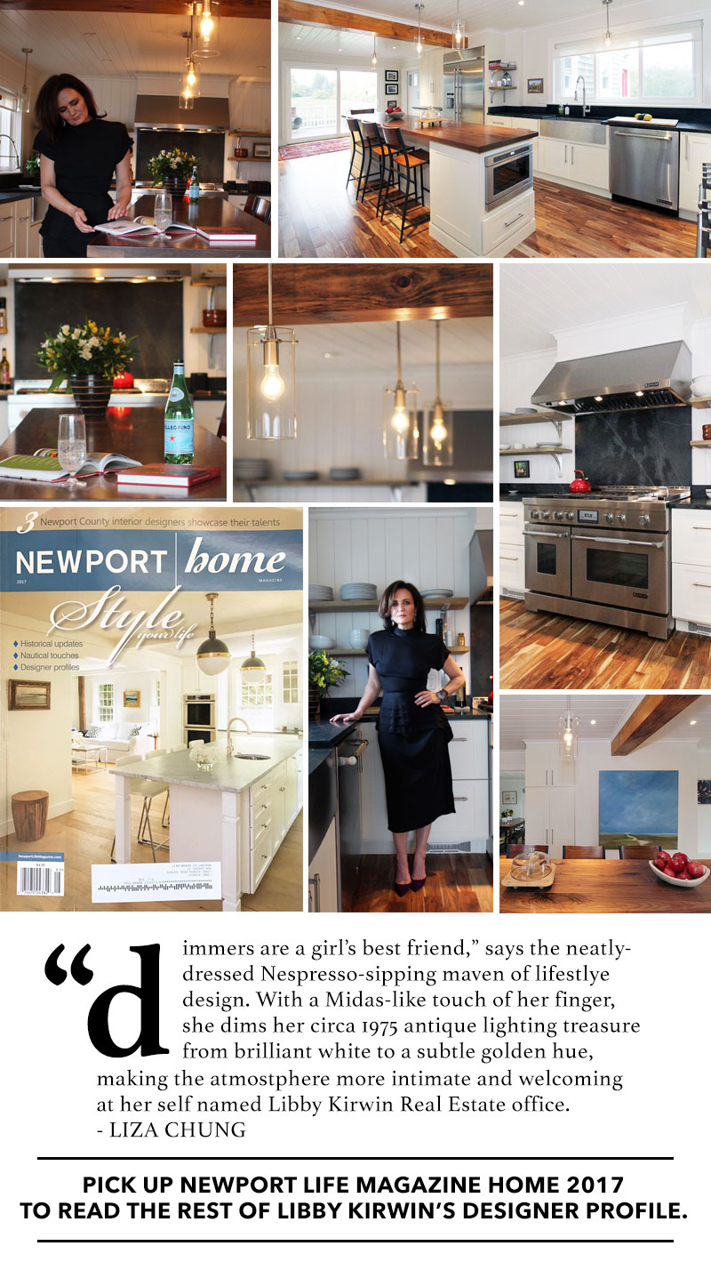 Newsletter Dimmers Are A Girls Best Friend This Weeks Features Libby Kirwins Design Profile In Newport Life Magazine Landings Real Estate