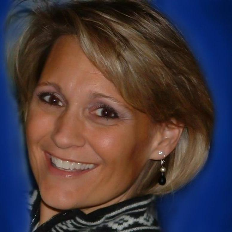 Blue Background Photo for Susie Schainost - Board - VP Education