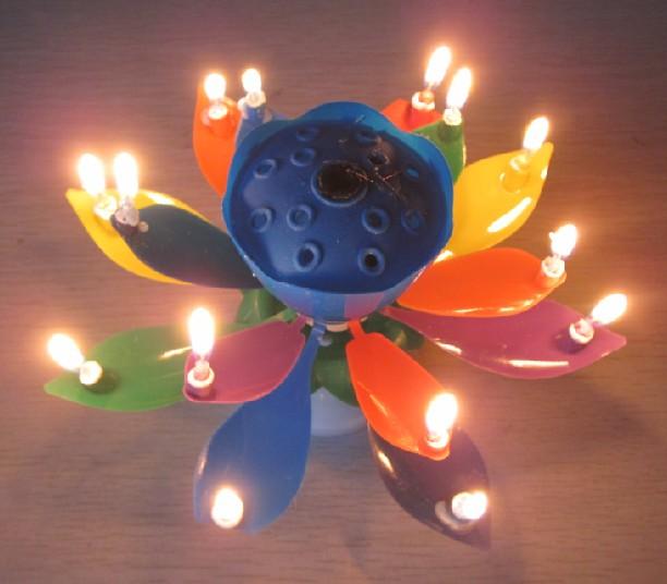Rainbow Amazing Candles