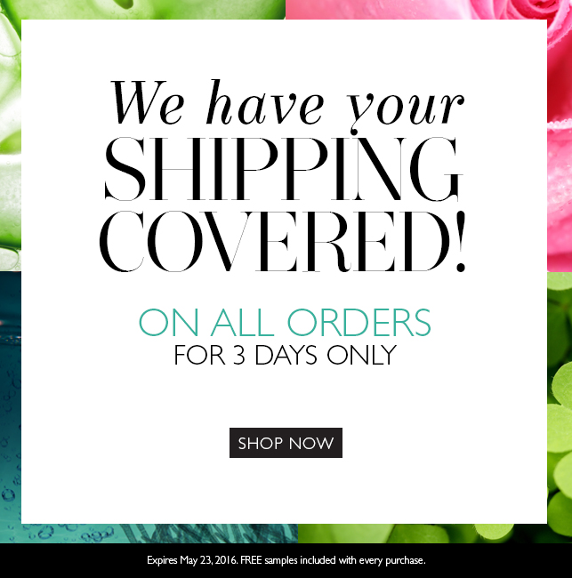 FREE Shipping on ALL orders--3 Days Only!