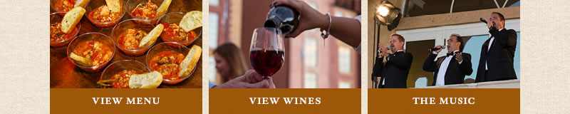 View menu and wine list