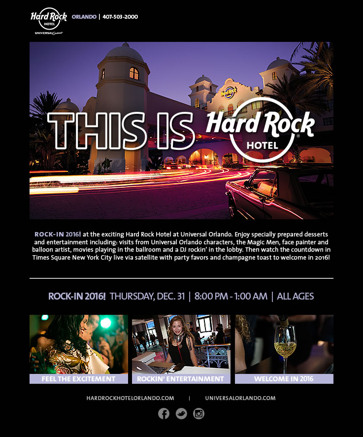 ROCK-IN 2016! at Hard Rock Hotel at Universal Orlando
