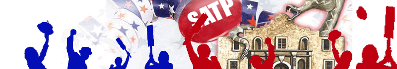 Vote banner with red & Blue people