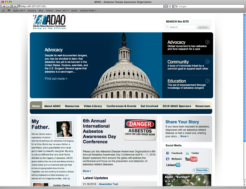 ADAO Website Image
