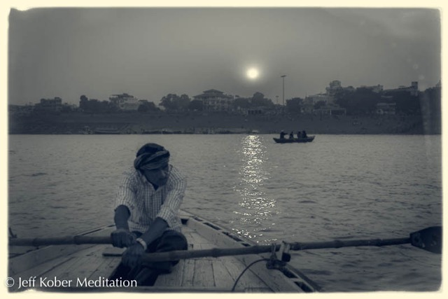 boatman, Ganges River, Varanasi, Uttar Pradesh, India
