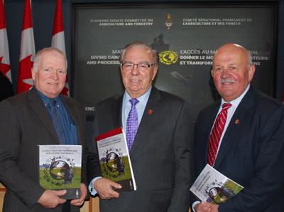 President Ron Bonnett with Senator Ghislain Maltais and Senator Terry Mercer