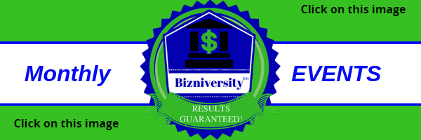 Bizniversity Monthly Events