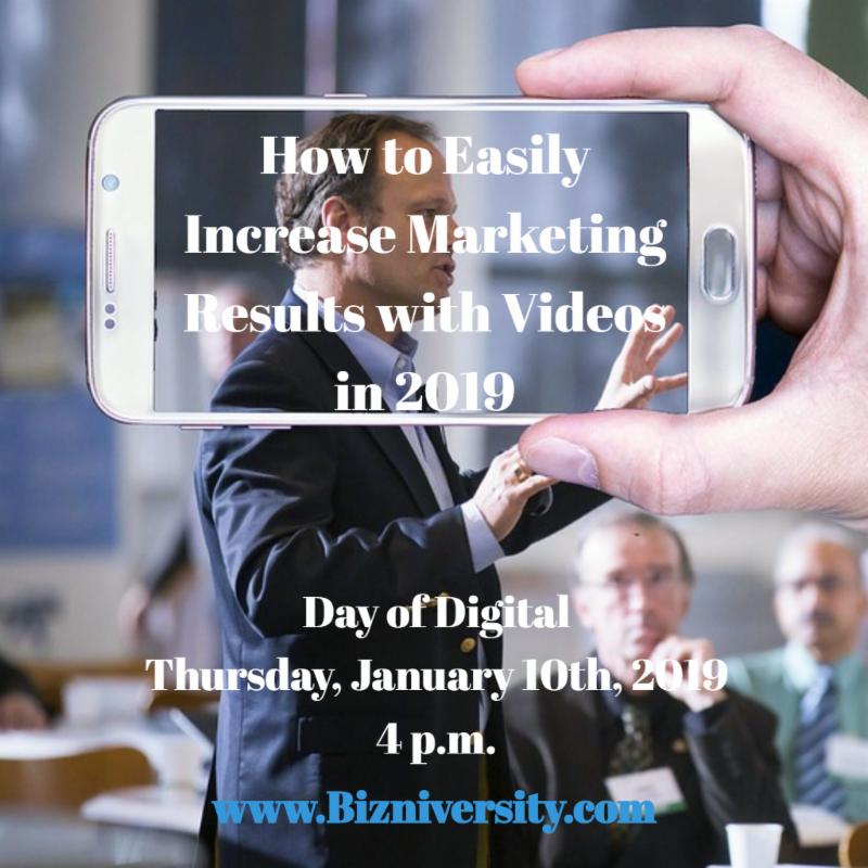 Bizniversity Increase Results Videos 2019-4
