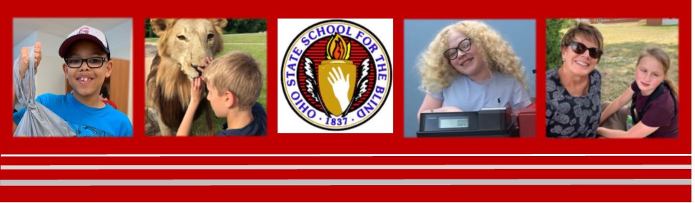 red header with OSSB logo in the middle with 4 pictures of students