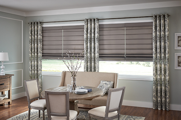 Dining Room with Simple Fabric Treatment