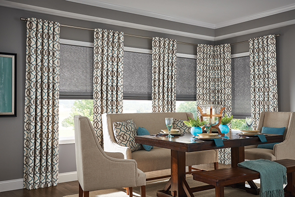 Dining Room without Simple Fabric Treatment