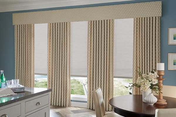 Windows with Simple Fabric Treatment