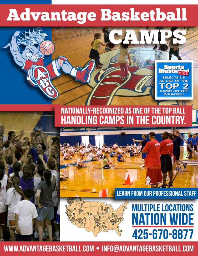 Advantage Basketball camps was selected by Sports illustrated Kids as the Top camp in the country to learn more visit www.advantagebasketball.com