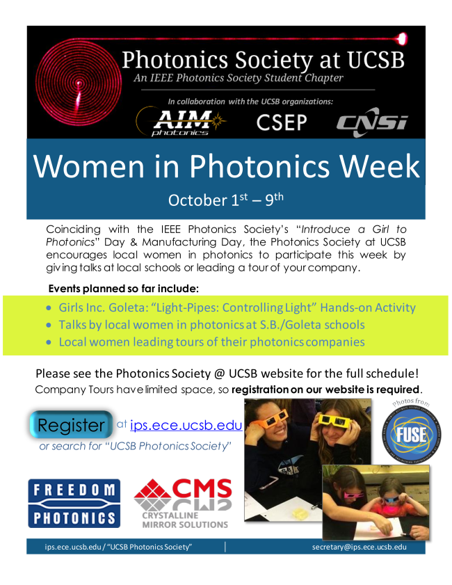 Women in Photonics Week