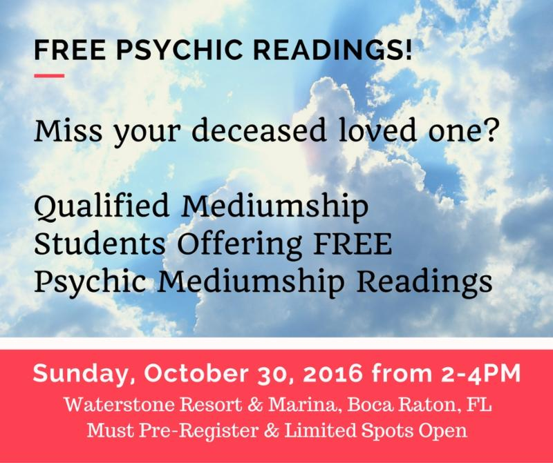 FREE PSYCHIC READINGS with Mediumship Students