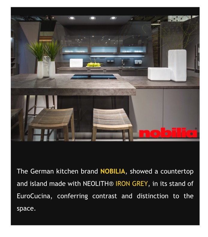 NEOLITH® with the top kitchen brands in EuroCucina | Marble