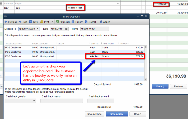 blog handling a bounced check or credit card fraud on a sale