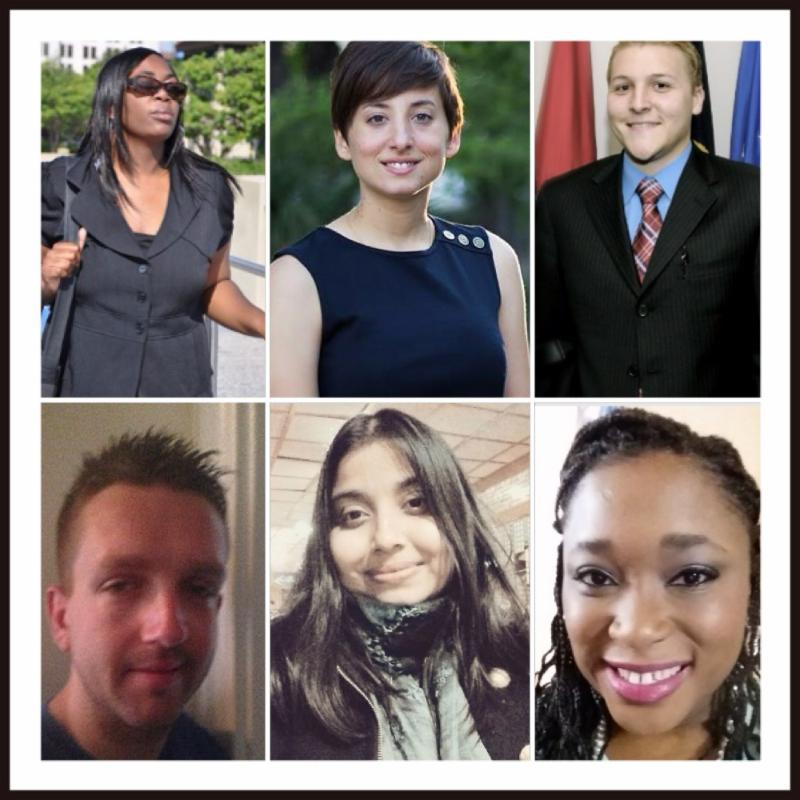 Headshots of 6 USICD interns from the 2015 class