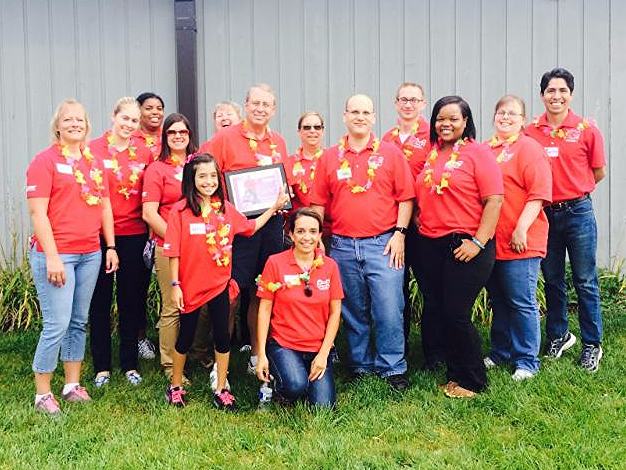 VISION Committee from MEAU Vernon Hills, IL poses for a group picture at NWSRA Day Camp Olympics