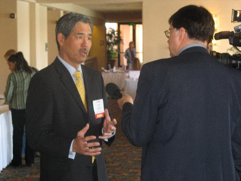 Randy Iwasaki is interviewed at WMA conference