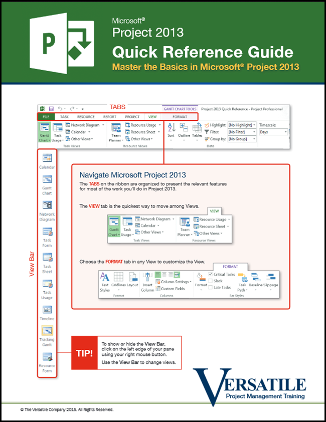 Project 2013 Quick Reference Guide