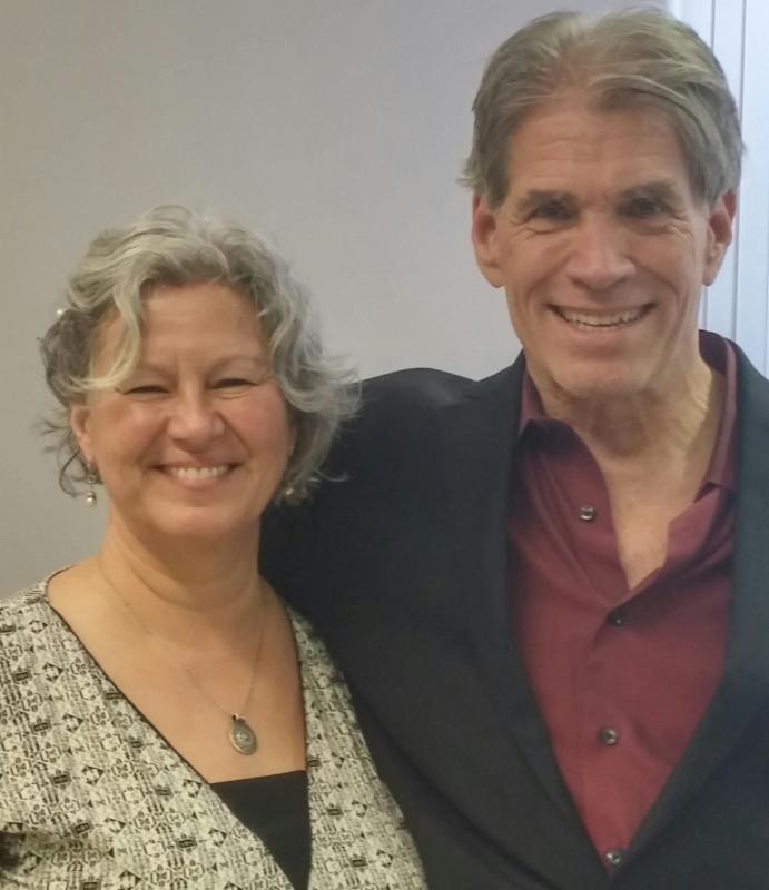 Susan working with David Feinstein in Edmonton