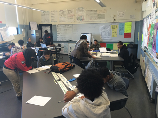 Students taking part in an after school academic session at the Burke High School
