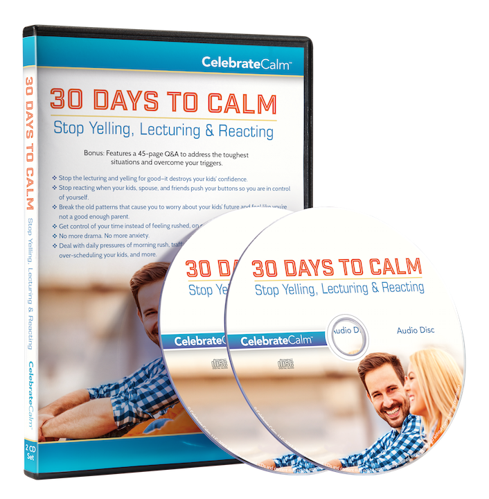 30 days to calm stop yelling lecturing reacting 1 cd 1 pdf workbook 45 page qa