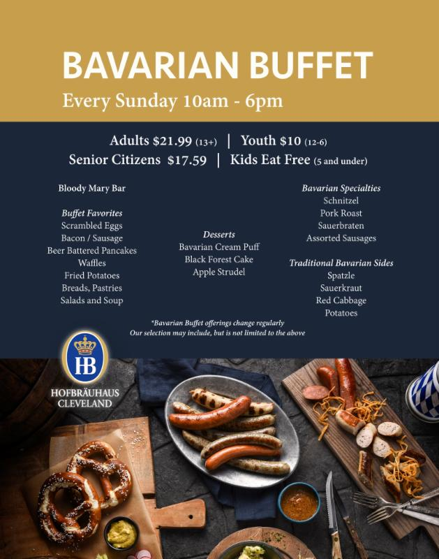 Our New Bavarian Buffet Every Sunday