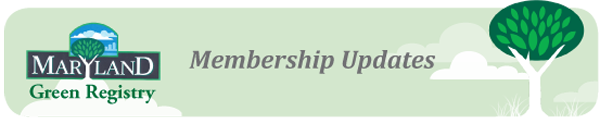 Maryland Green Registry Membership Updates
