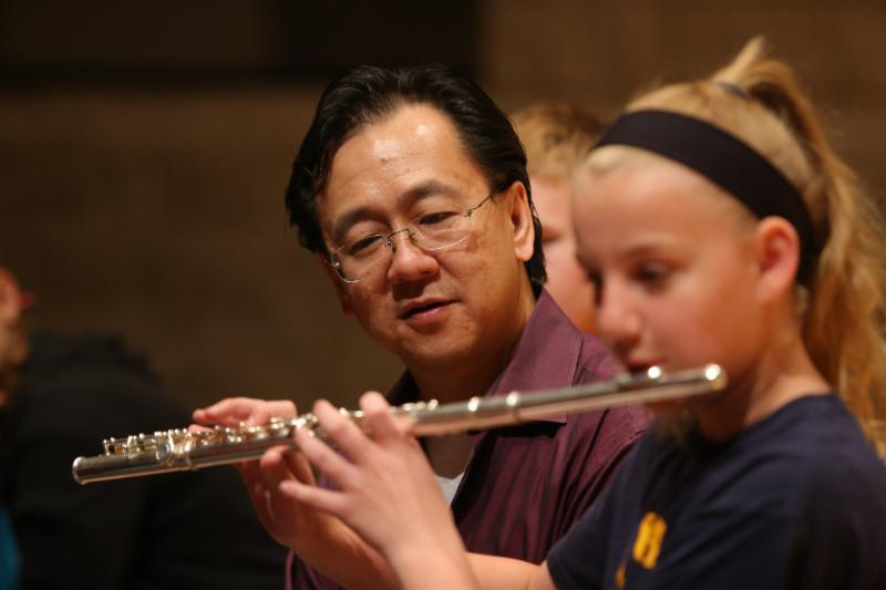 Joel Tse teaches intermediate and advanced flute track
