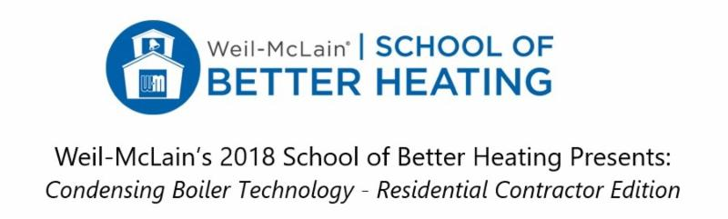 School of Better Heating - Michigan City, IN - May 22-24, 2018