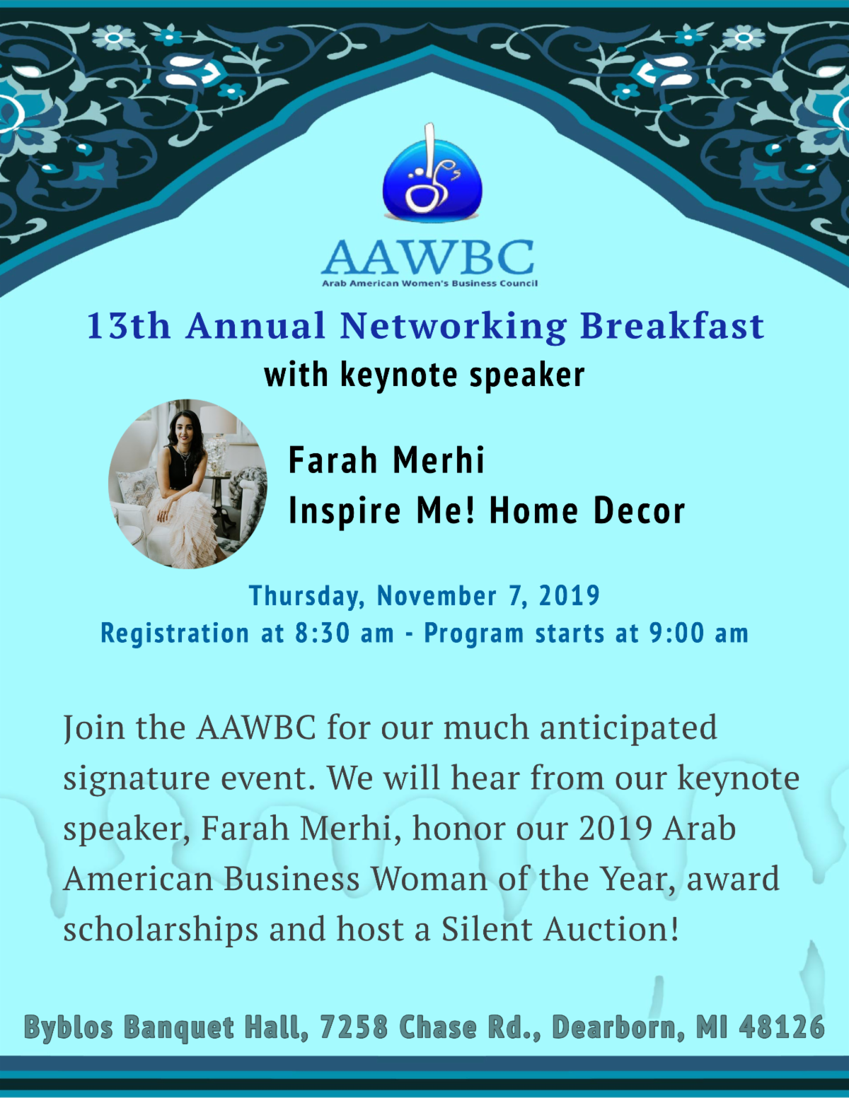 Register 13th Annual Networking Breakfast