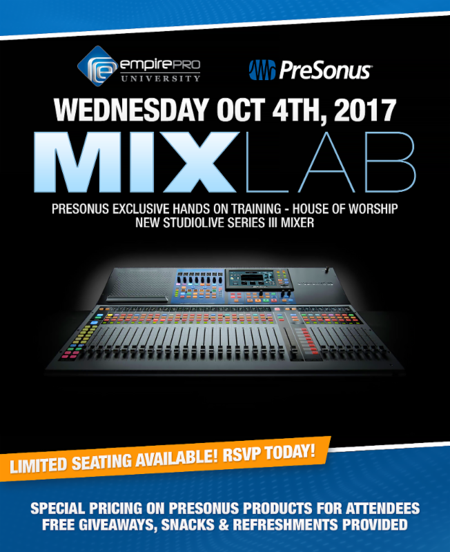 MixLab - PreSonus Training