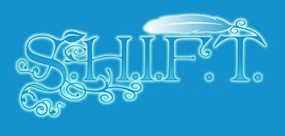 Shift blue background