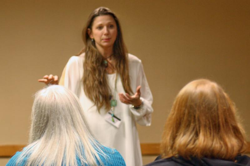 Vero Teaching a workshop 2017
