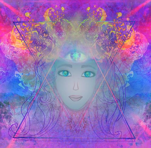 Woman with third eye_ psychic supernatural senses