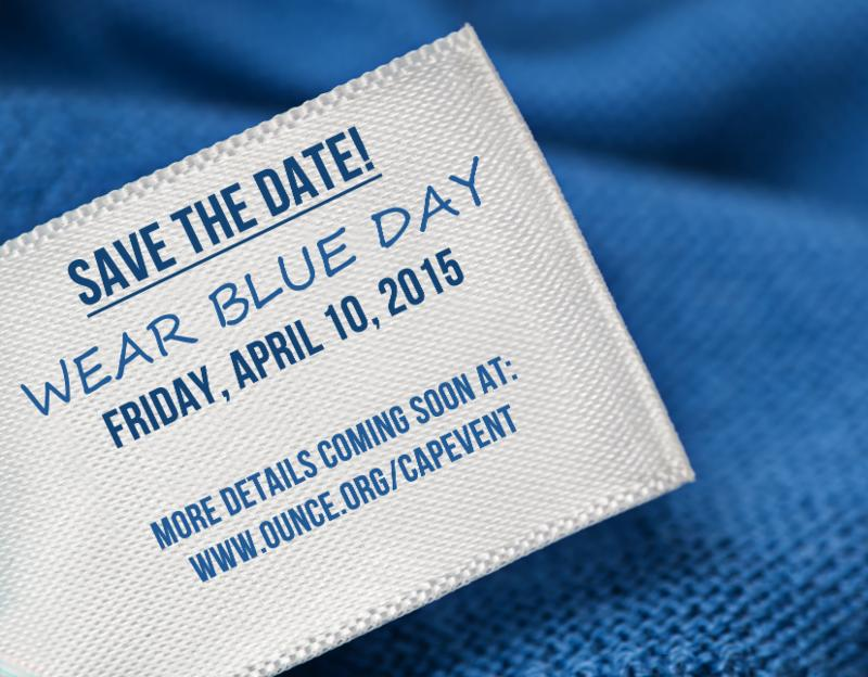 Save the date, wear blue