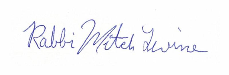 Rabbi Mitch Levine signature