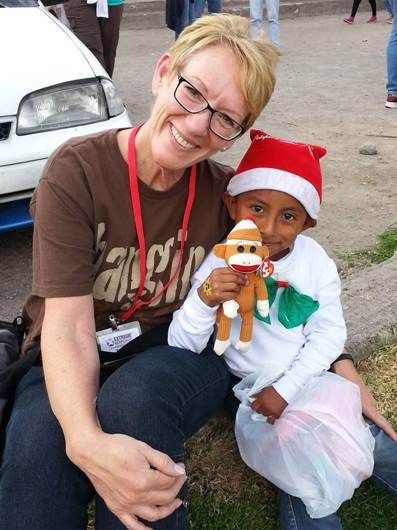 Terri Ramos participating in Christmas Outreach