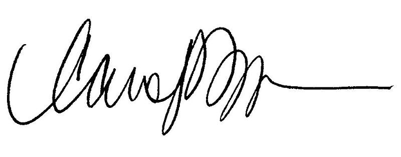 Rep. Carolyn Dykema Signature