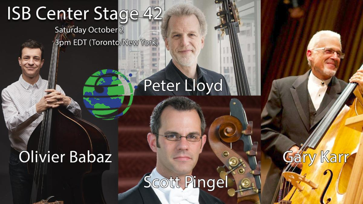 Gary Karr with Olivier Babaz, Peter Lloyd, and Scott Pingel